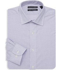saks fifth avenue men's boxed slim-fit classic dress shirt - purple - size 32 32