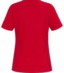 shirt in a-lijn met korte mouwen van anna aura rood