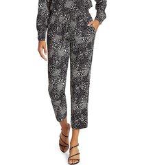 joie women's ceylon print cropped trousers - caviar - size xxs