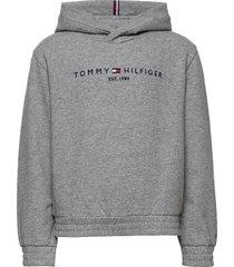 essential hooded sweatshirt hoodie trui grijs tommy hilfiger