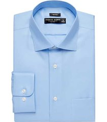 pronto uomo men's big and tall blue queens oxford classic fit dress shirt - size: 18 32/33 - only available at men's wearhouse