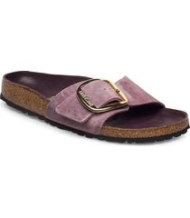 madrid big buckle shoes summer shoes flat sandals lila birkenstock