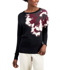 alfani floral sweater, created for macy's