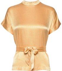 kimberly blouse ss 10447 blouses short-sleeved beige samsøe samsøe