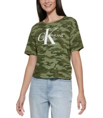 calvin klein graphic drop-shoulder t-shirt