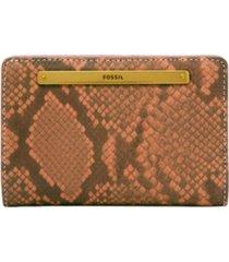 fossil women's liza multifunction leather wallet