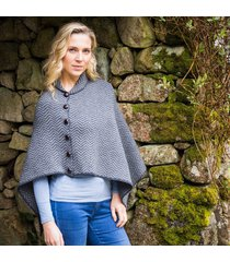 the annalee poncho gray one size