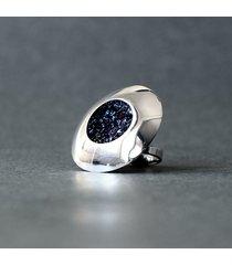duży pierścionek srebrny z karborundem