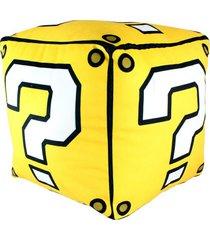 almofada formato cubo mario