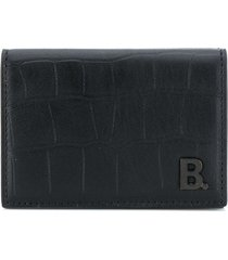 balenciaga b. mini wallet - black