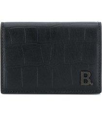 balenciaga b. mini wallet - black