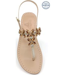 bagni di tiberio jewel thong sandals