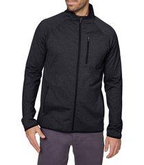 men's hickey freeman zip tech jacket, size x-large - black