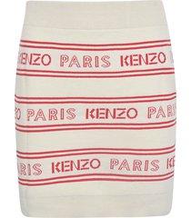 kenzo logo stripe all-over dress
