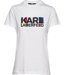 bauhaus stacked logo t-shirt t-shirts & tops short-sleeved vit karl lagerfeld