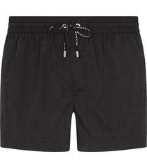 dolce & gabbana drawstring swim shorts - black