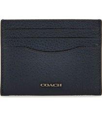 coach men's pebble leather card case - midnight