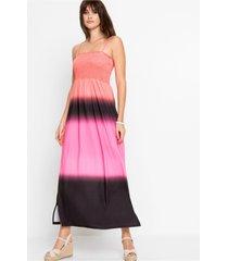 gebatikte maxi jurk