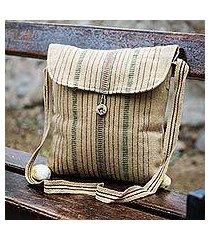 wool shoulder bag, 'inca cream' (peru)