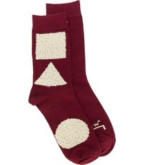 a-cold-wall* printed socks - red