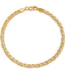giani bernini mariner link chain bracelet in 18k gold-plated sterling silver, created for macy's
