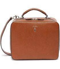 'baker messenger' bag in leather