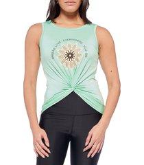 electric yoga women's spread love sleeveless top - mint - size l