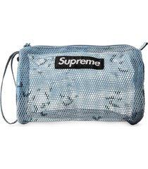 supreme utility logo pouch - blue camo