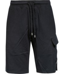 c.p. company light fleece shorts