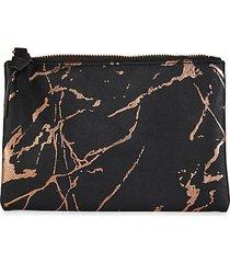 splatter faux leather pouch