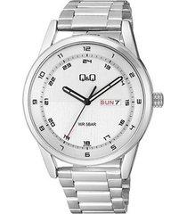 reloj q&q plateado caballero elegante a210j204y