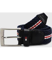 cinturón negro-azul-blanco-rojo tommy hilfiger
