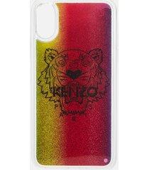 kenzo women's iphone x tiger liquid phone case - multicolour