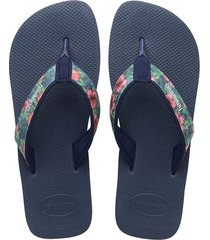 sandalias chanclas havaianas para hombre azul surf material