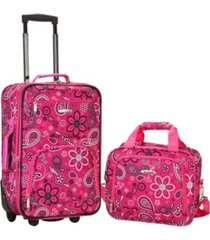 rockland 2-pc. pattern softside luggage set
