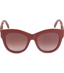 stella mccartney women's 52mm cat eye sunglasses - red