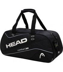 bolso deportivo combat 35 negro plata head