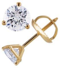 certified 1/4 ct. t.w. diamond stud earrings in 14k white or yellow gold