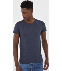 camiseta rock&soda logo azul-marinho - azul marinho - masculino - algodã£o - dafiti