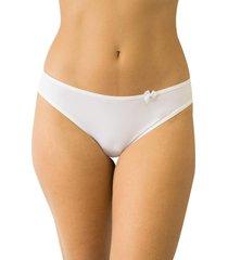 calcinha fio duplo mulher elegante qtal lingerie básico branco