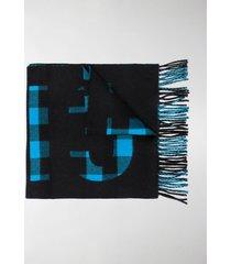 balenciaga check-print scarf