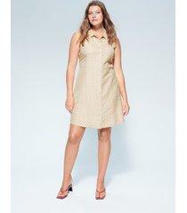 bedrukte linnen jurk