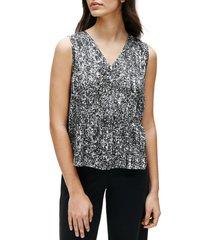 women's eileen fisher silk & organic cotton sleeveless top