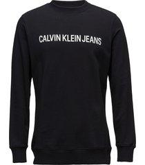 core institutional l sweat-shirt tröja svart calvin klein jeans