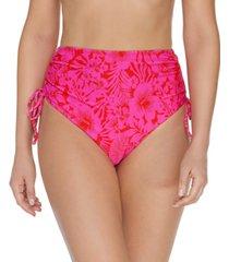 raisins juniors' making waves side-tie high-waist bikini bottoms women's swimsuit