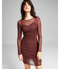 and now this women's ruched mesh dress