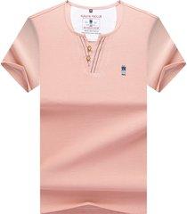 camiseta de manga corta para hombre, rosa