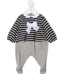 il gufo striped jersey one-piece - grey
