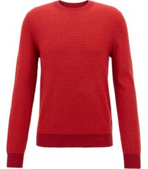 boss men's lightweight textured sweater