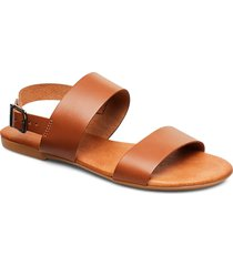 biabrooke basic leather sandal shoes summer shoes flat sandals brun bianco